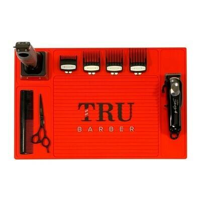 Tru Barber - Tappetino per Barbiere LARGE 48x34 RED