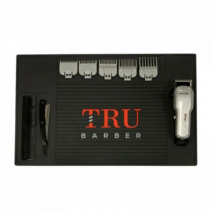Tru Barber - Tappetino per Barbiere LARGE 48x34 BLACK