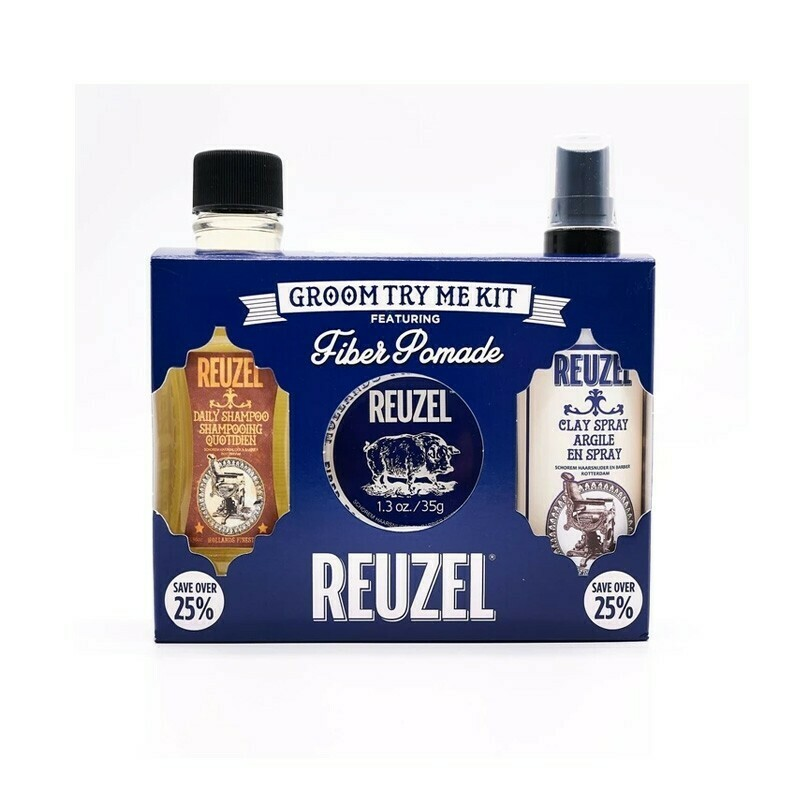 Reuzel - Kit Fiber Cera+Shampoo+Spray