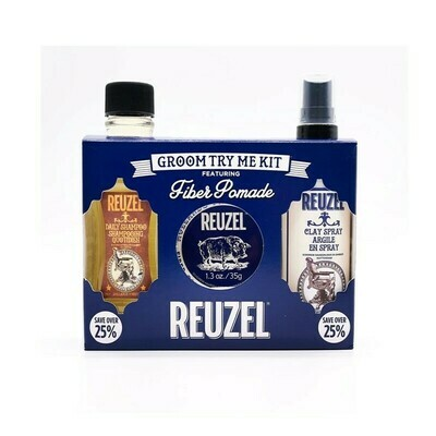 Reuzel - Kit Fiber Cera+Shampoo+Spray
