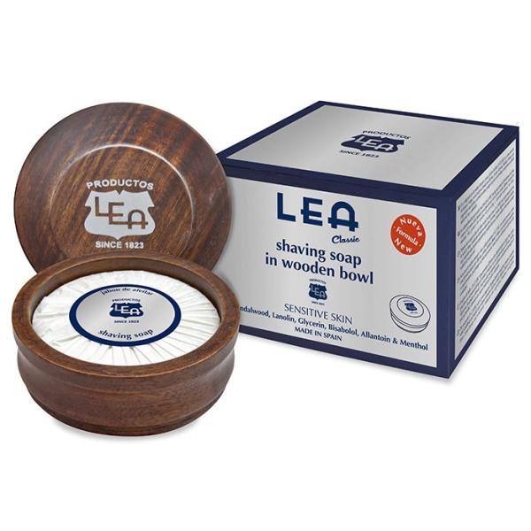 Lea - Sapone da Barba pelli sensibili con Ciotola in Legno gr 100
