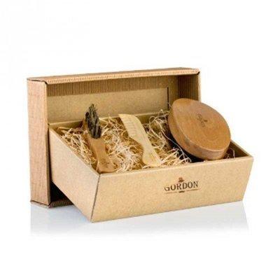 Gordon - Kit da Barba - Spazzola Barba + 1 Spazzolino Baffi + Pettine
