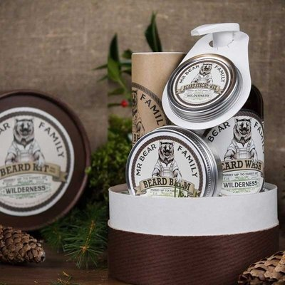 Mr Bear Family - Confezione regalo gusto Wilderness (colline verdi) per Barba e Baffi