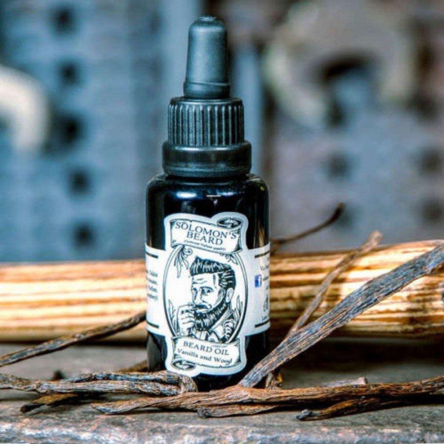Solomon's Beard - Olio da barba Vanilla & Wood 30ml.