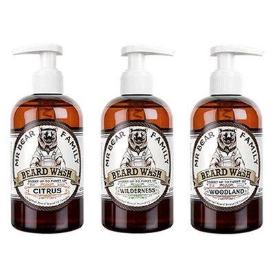 Mr Bear Family - Sapone liquido da barba gusto Woodland (Foresta di Pini) 250ml.