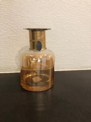Vase Glas Fb. gold 19cm