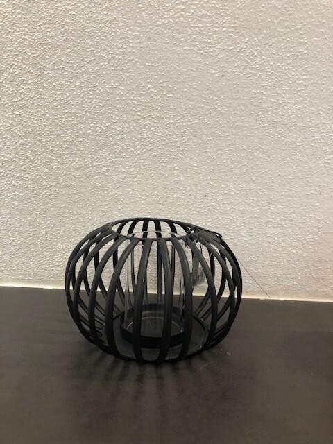 Windlicht Metall Fb. schwarz 11X18cm