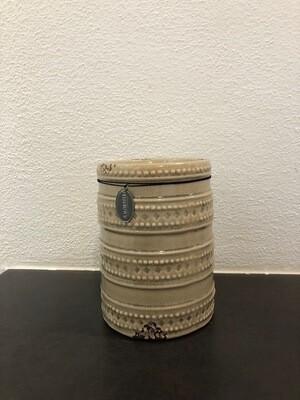 Kerzenhalter beige Keramik 9X16,5cm