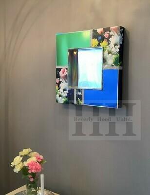 Blue/Green Floral Mirror