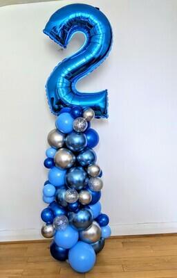 Number Balloon Organic Column