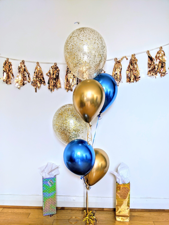 Chrome Gold And Blue Confetti!