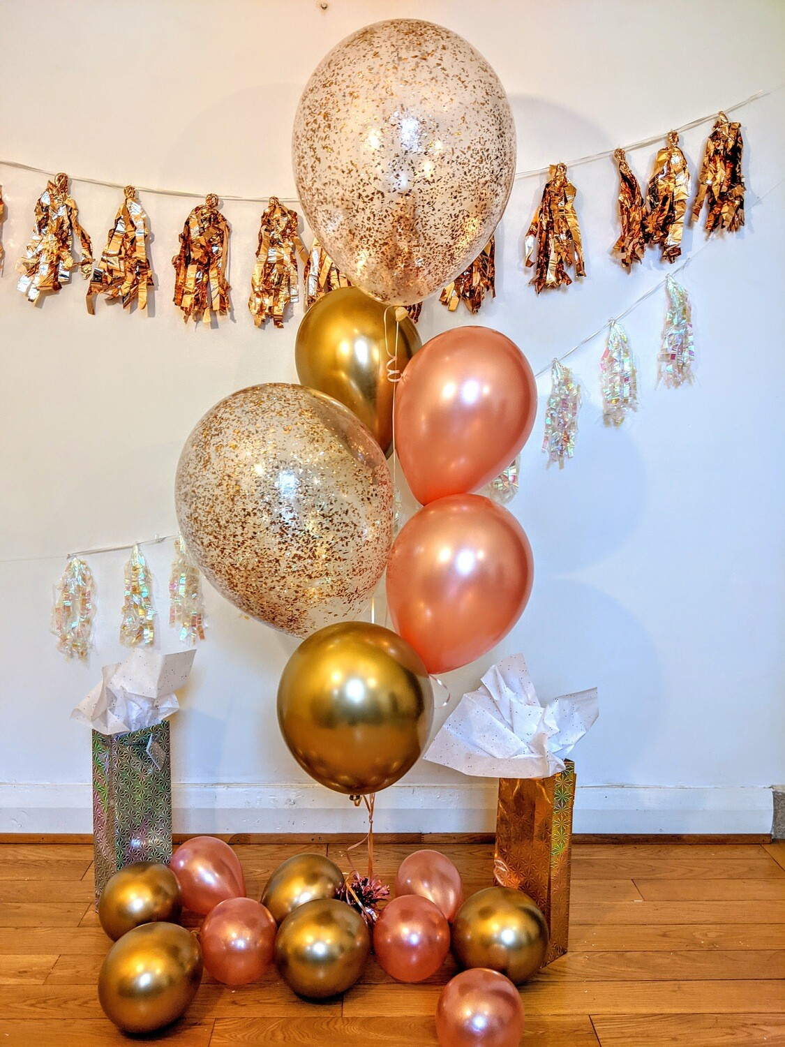 Rose Gold and Gold Confetti!