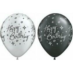 Happy Birthday Black & Silver