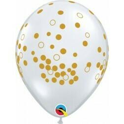 Clear Golden Confetti