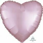 Heart - Pastel Pink Satin