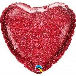 Heart - Glitter Red