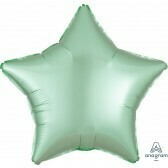 Star - Pastel Green Satin