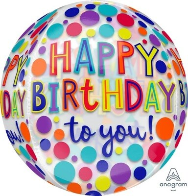 Rainbow Dots Happy Birthday