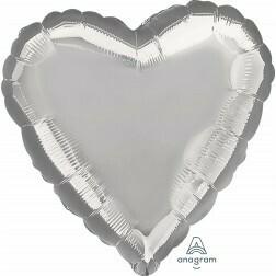 Heart - Silver Metallic
