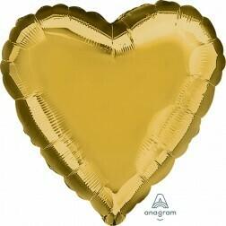 Heart - Gold Metallic