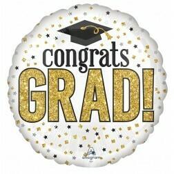 Congrats Grad - White