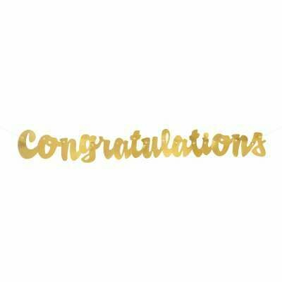 Congratulation  Banner - Gold