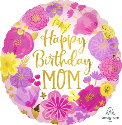 Happy Birthday Mom Floral