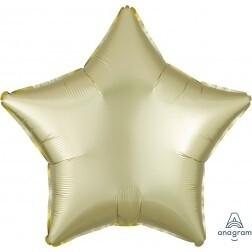 Star - Pastel Yellow Satin