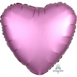 Heart - Flamingo Satin