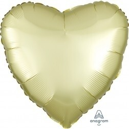Heart - Pastel Yellow Satin