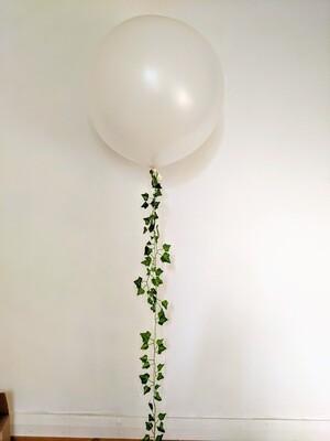 Jumbo White Balloon with Ivy Tassel