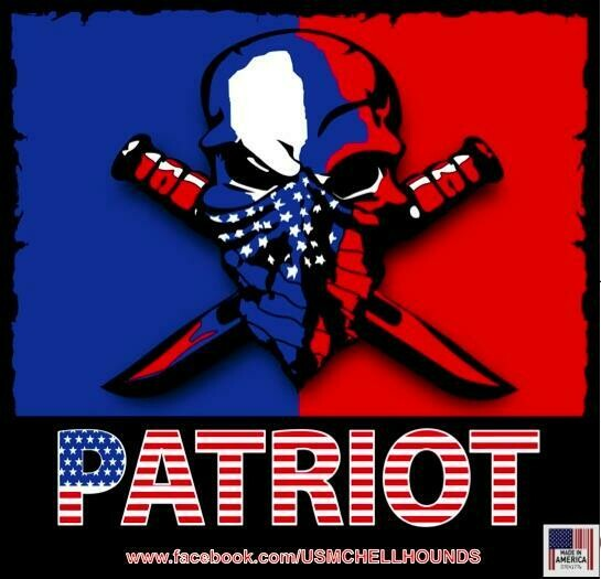 PATRIOT DECAL 5 x5 Inches
