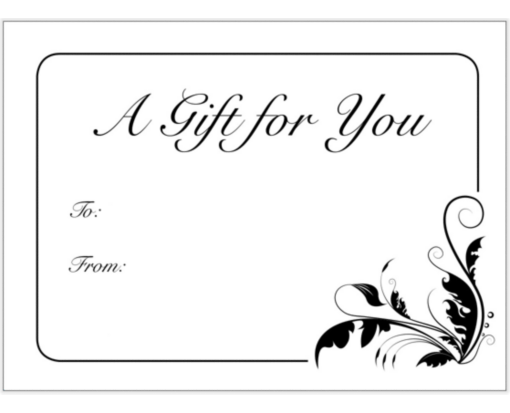Printed Gift Card Envelopes - Select Style (min Qty 100)