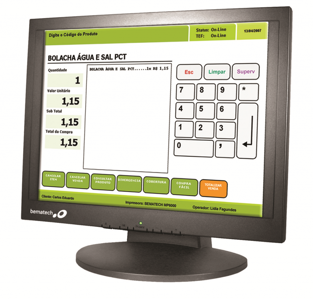 LE1000 LCD 15″ Touch Monitor