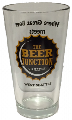 Beer Junction 16oz pint glass
