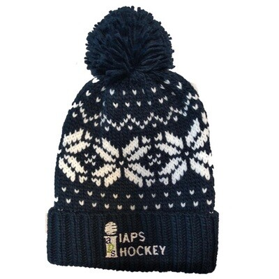 Bobble Hat - Navy and White