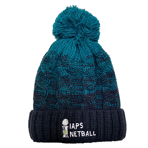Bobble Hat - Navy Blue and Teal