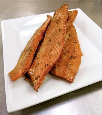 Smoked Chinook Salmon Bellies (0.5 lb)