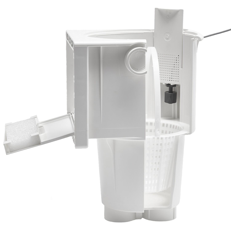 Skimmer Ocean® De Luxe M5 Edelstahleinsätze A4 ABS weiss Doppellippendichtung Ocean-Einzelverpackung