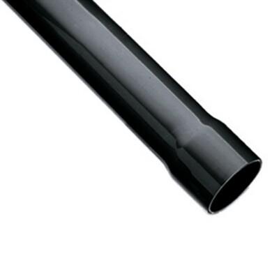 Praher 75mmx3,6mm PVC-u Rohr Standard grau mit Muffe, 3m