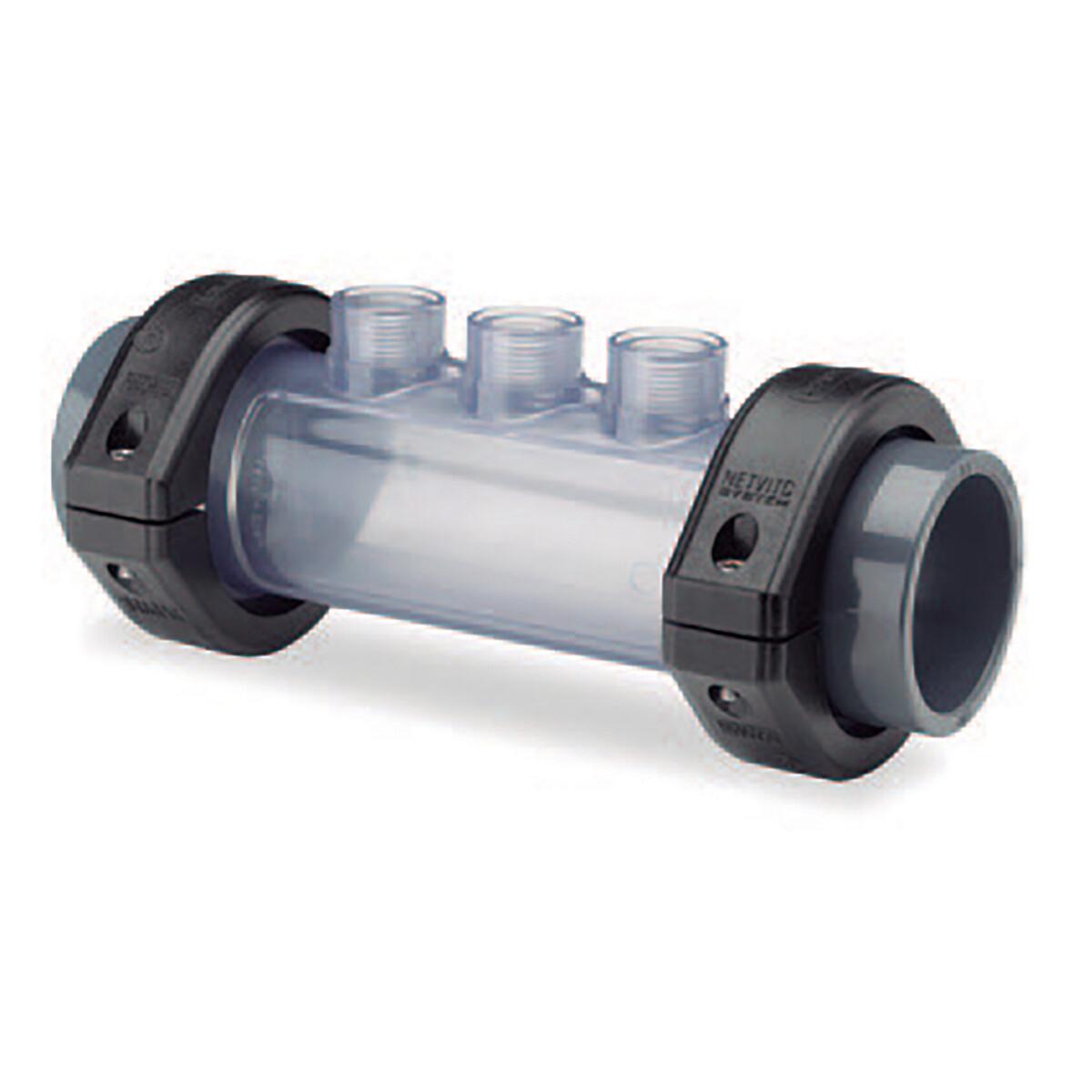 Transparente Elektrodenhalterung d50 inkl. 1x Verschlusstopfen und O-Ring