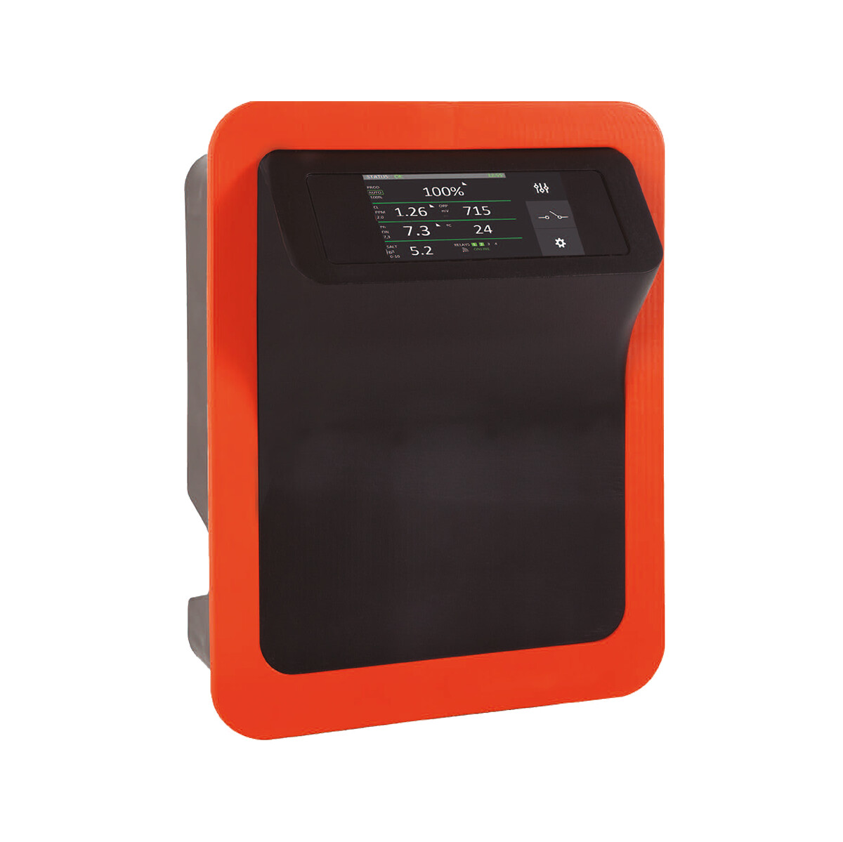 Smart Salzelektrolyseanlage PREMIUM-TOUCH-DOM 20g Cl/h selbstreinigende Zelle für private Pools bis 75m3 (Pumpenlaufzeit 8h)