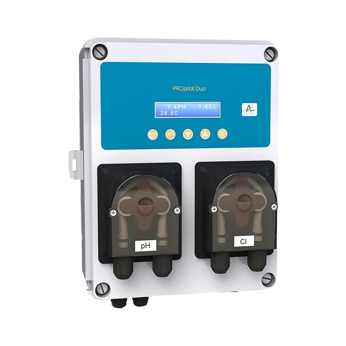 Smart Wasseraufbereitungssystem PROpilot Duo pH Redox, 1,5l/h pH Minus und Chlordosierung, inkl. 2 in 1 Sensorhalter, d50 & d63