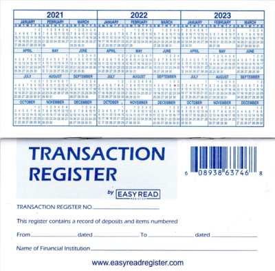 50 Checkbook Registers