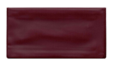 Jazzberry Maroon Checkbook Cover