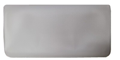 Pewter Gray Checkbook Cover