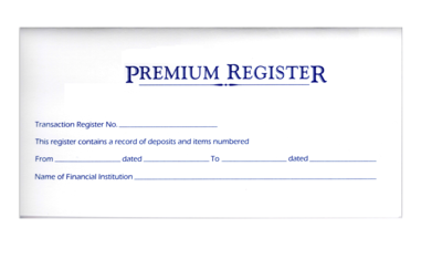 PREMIUM 10 Checkbook Registers