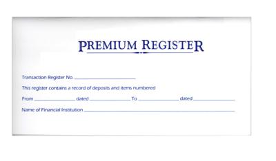 Premium Checkbook Registers