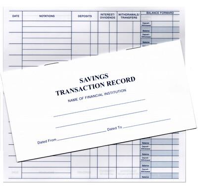 Savings Transaction Record Book