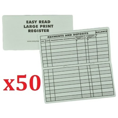 50 Large Print Checkbook Registers